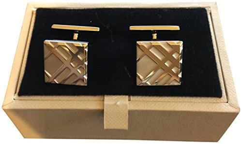 Burberry-Mens-Beige-Trench-Metal-Silvertone-Cufflinks