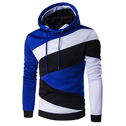 Sadiale 2017 Hoodies Mens Male Hip Hop Male Brand Hoodie Color Stitching Sweatshirt Suit Men Slim Fit Men Hoody XXL E5RV WhiteM (2015 Daily Planner With Zipper)