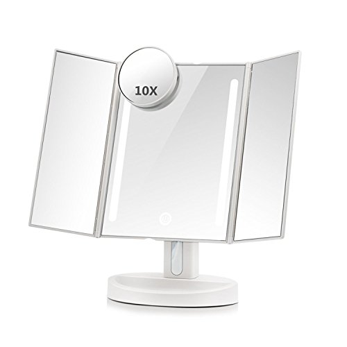 Pocket Makeup Mirror With LED Light (White) - 5