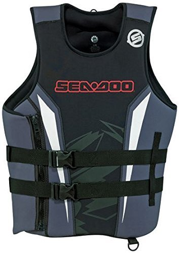 BRP Sea-Doo Neoprene Force Pullover PFD Life Jacket Vest (Large, Red)