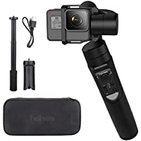 Hohem iSteady Pro 3-Axis Handheld Gimbal for Gopro Hero 6 5 4 3, Sony RXO, SJCAM, YI Cam - With PERGEAR Extension Rod Stick and Cleaning Cloth