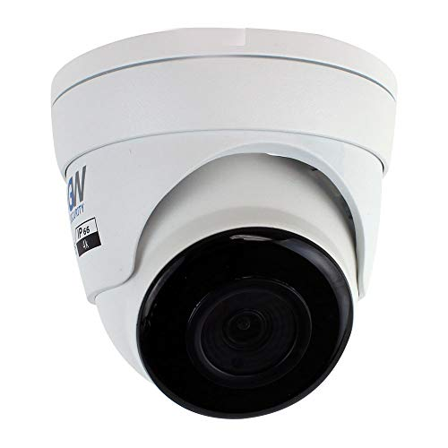 GW Security 8 Megapixel 2160P Sony Starvis Network PoE Weatherproof UltraHD 4K Security Dome IP Camera Built-in Microphone, Audio Recording, Power Over Ethernet