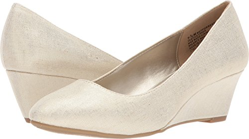 Bandolino Women's Forrest Gold Metallic Coated Linen 7 5 M US