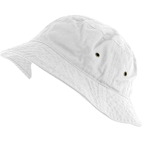 [White_(US Seller) 100% Cotton Hat Cap Bucket Boonie Unisex] (Joker Nurses Costume)