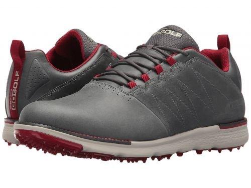 SKECHERS Performance(スケッチャーズ) メンズ 男性用 シューズ 靴 スニーカー 運動靴 GO GOLF - Elite V.3 LX - Charcoal/Red [並行輸入品] B07BM9QKLX
