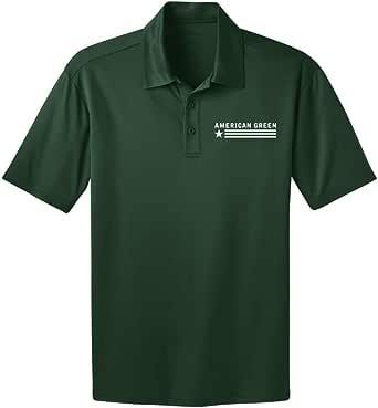 American Green Polo (Green Shirt - White Logo)