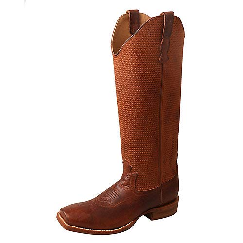 - Twisted X Women's Buckaroo Western Boot Square Toe Brown 9 M