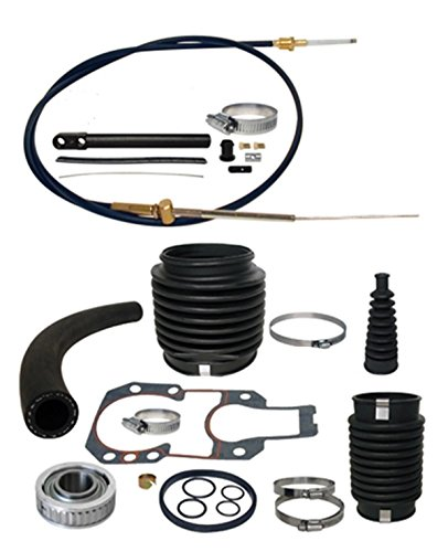 Transom Service Kit Gimbal Bearin, Shift Cable u-joint, shift, and exhaust bellows for Mercruiser Alpha 1 One Gen II 2 sterndrive