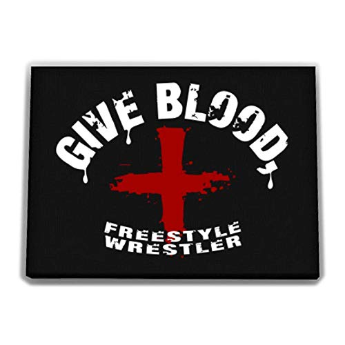 Idakoos Give Blood, Freestyle Wrestler Canvas Wall 12