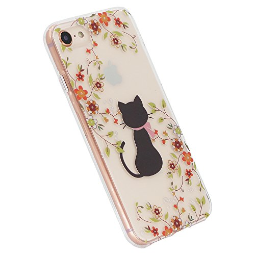 Gel 8 Yellow with Girl iPhone Screen IMD and 7 Glass Clear Dress Cat and Red Case SwiftBox Flexible iPhone iPhone Flowers TPU Case Tempered 8 for Protector B66qxYw4
