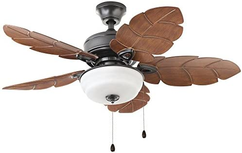Home Decorators Collection Palm Cove 44 in. LED Indoor/Outdoor Natural Iron Ceiling Fan