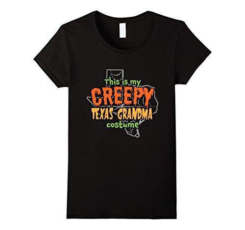 Womens Creepy Texas Grandma Funny Halloween Costume T-shirt Medium (Big Texas Halloween Party)