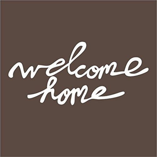 gtrsa Welcome Home by Elsie Larson elsiecake Red Velvet Artand A Beautiful Mess Inspirational Wall Decal Family Wall Decal Nursery Wall Decal Church Wall Decal, Daycare Wall Decal, Bible, Hymn