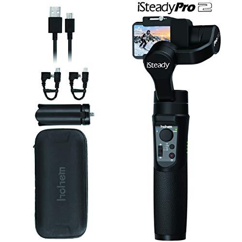 Hohem Water Splash Proof GoPro Gimbal Handheld Stabilizer for Action Camera Gimble for DJI Osmo Action,GoPro Hero 7/6/5/4/3,SJCam,YI 4K Action Camera (iSteady Pro2 2019 New Model)