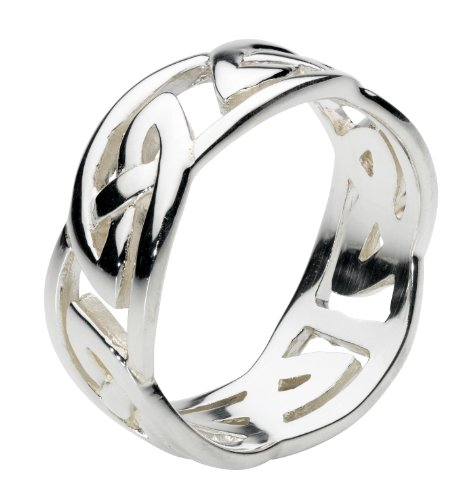 Heritage Celtic Wide Open Knotwork Ring- Size Z