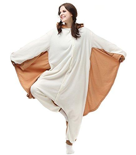 DATO Ropa de Dormir Pijama Ardilla Voladora Cosplay Disfraz Animal Unisexo Adulto ardilla voladora