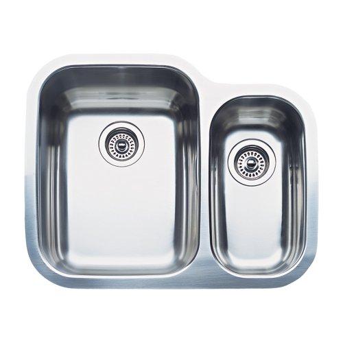 (Blanco 511-967 Supreme 1-1/2 Bowl (Double Single) Undermount Kitchen Sink, Satin Polished Finish)
