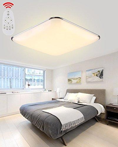 36W Dimmbar LED Modern Deckenlampe Silber Ultraslim Deckenleuchte Schlafzimmer Küche Flur Wohnzimmer Lampe Wandleuchte Energie Sparen Licht (Dimmbar)