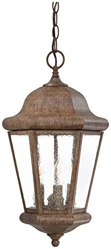Minka Lavery Outdoor Pendant Lighting 8614-A61, Taylor Court Ceiling Lighting for Patio, 180 Watts, Rust -