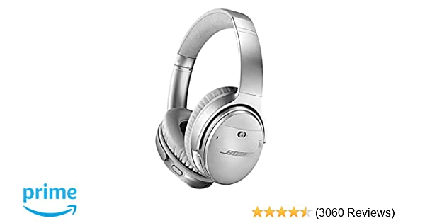 d22916b8a4300d Bose QuietComfort 35 II Wireless Bluetooth Headphones, Noise-Cancelling,  with Alexa voice control, enabled with Bose AR – Silver, One Size -  789564-0020