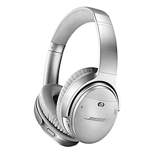 Headphones Headphones Silver (Bose QuietComfort 35 II Wireless Bluetooth Headphones, Noise-Cancelling, with Alexa voice control, enabled with Bose AR - Silver, One Size - 789564-0020)