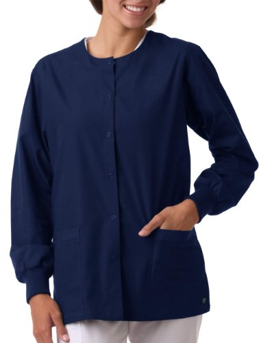 (Core By Maevn Unisex Round Neck Solid Scrub Jacket X-Large Navy)