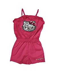 Hello Kitty Little Girls Fuchsia Glittery Applique Romper 5