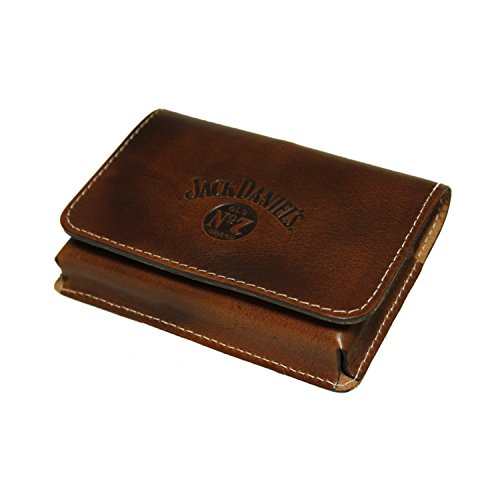 Jack Daniel's Western leather twin deck poker playing card holder by Jack Daniel's