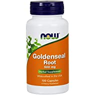 NOW Supplements, Goldenseal Root (Hydrastis canadensis) 500 mg, Herbal Supplement, 100 Veg Capsules