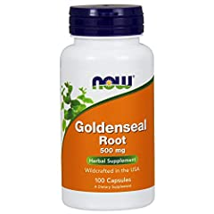 NOW Goldenseal Root is derived from the root of the Hydrastis canadensis plant. It has been used traditionally by Native Americans for hundreds of years and is still used by modern herbalists today. Take 2 capsules daily as needed.