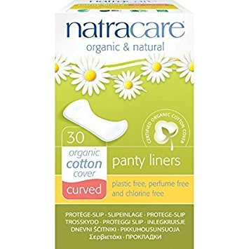 Natracare Organic & Natural Curved Panty Liners 30 ea (Pack of 2)