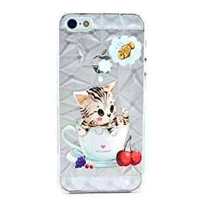 DUR Diamond Shape Case with Cat Fish Printing Hard Case for iPhone 5/5S