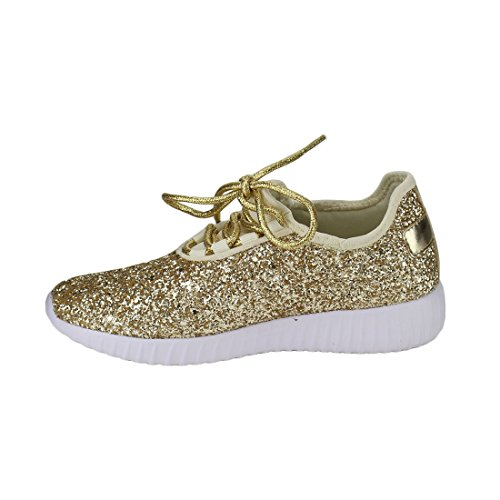 Glitter Remy Sparkly Fashion Forever for Women's Women Sneakers 18 Shoes Gold Sneakers Link EwBgIgq16