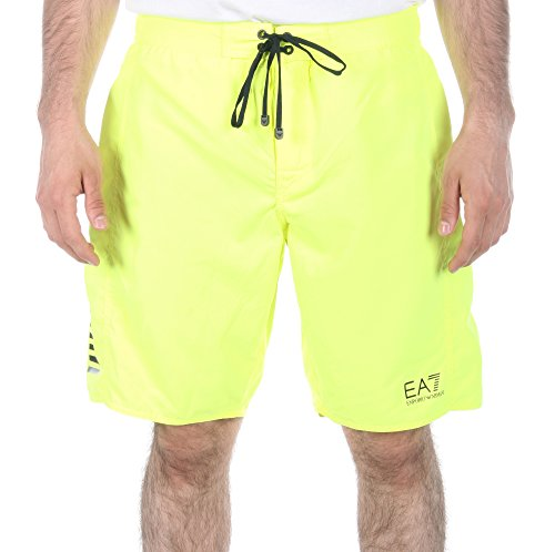 Emporio Armani Men's Core Sea World Swim Short, Acid Lime, Small/EU 48 by Emporio Armani