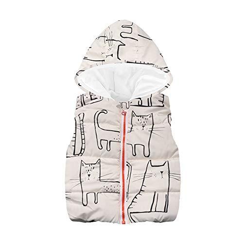 - VEKDONE Baby Girls Cat Print Waistcoat Toddler Winter Cotton Vest Jacket Coat