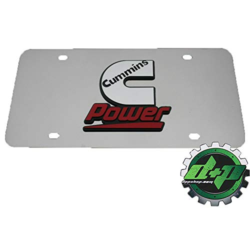 - Cummins Power Emblem Stainless Dodge Truck Mirrored License Plate