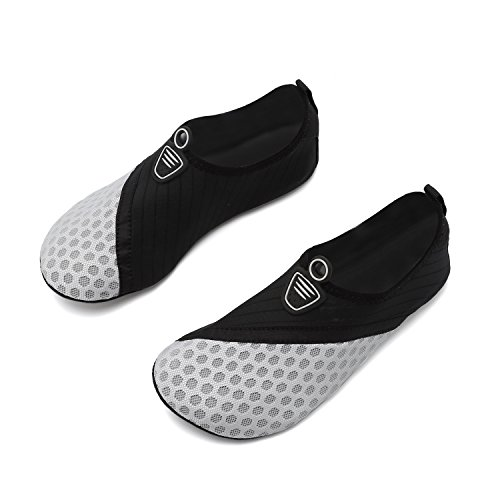 Barefoot On Slip Exercise Women Black Water Yoga Beach Sports Quick Men and Dry Gray Aqua Socks for Swim Shoes Rn7w4qE