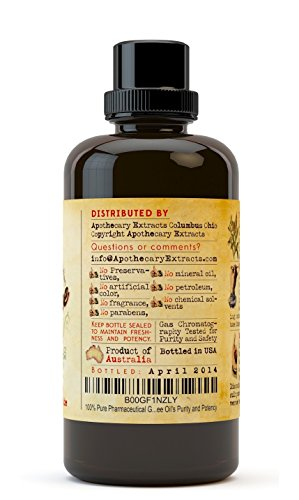 Apothecary Extracts - Tea Tree Oil - 100% Pure Australian Tea Tree Oil - 4-Ounce Value Pack - Pharmaceutical Grade Essential Oil - Treats Acne, Cutaneous Skin Tags, Bacterial Infections and More