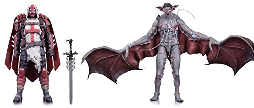 [Super Hero Batman Arkham Knight Azrael & Man-Bat Action Figures Toys, 2 Pack] (Lego Marvel Superheroes All Spiderman Costumes)