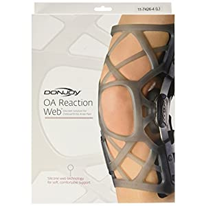 DonJoy OA Reaction WEB Knee Brace, Medial Right/Lateral Left, Large by DonJoy 35