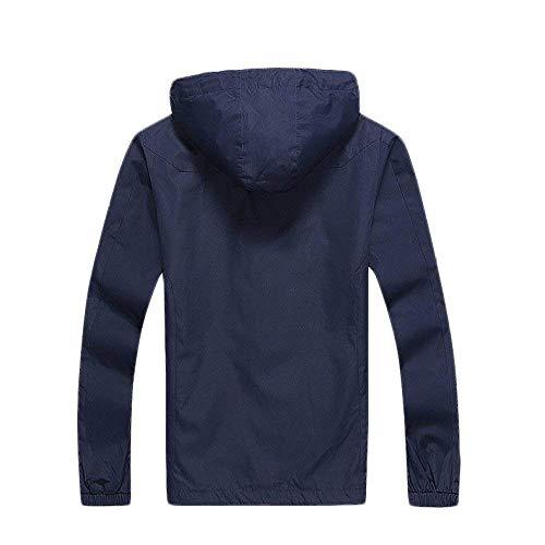 Uomo Antivento Sport Alpinismo Per Battercake Aperta Tinta Comodo Giacca Asciugatura Da All'aria Abbigliamento Vento Blu Unita Rapida Giacche Impermeabili xpOw0qOZY