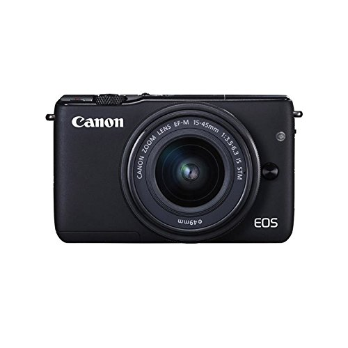 Canon EOS M10 Mirrorless Digital Camera with EF-M 15-45mm f/3.5-6.3 is STM Lens and Deluxe Accessory Bundle