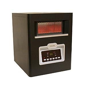 Versonel VSL1500H6E 6 Element Portable Quartz Infrared Heater with Remote, 1500W, Black