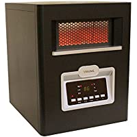Versonel VSL1500H6E 6 Element Portable Quartz Infrared Heater with Remote, 1500W, Black
