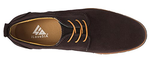 iLoveSIA Mens Classic Suede Leather Oxford Shoes G2 Brown With Comfort Footbed Q8vLUA