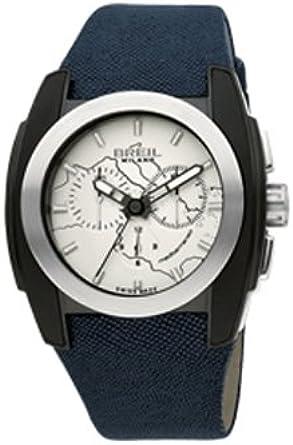 Breil Milano BW0508 - Reloj de Caballero de Cuarzo, Correa de Textil Color Azul Claro