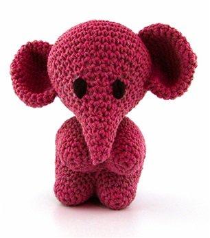 Cotton Punch 19 x 8 x 9 cm Hoooked Elephant Mo kit eco barbante