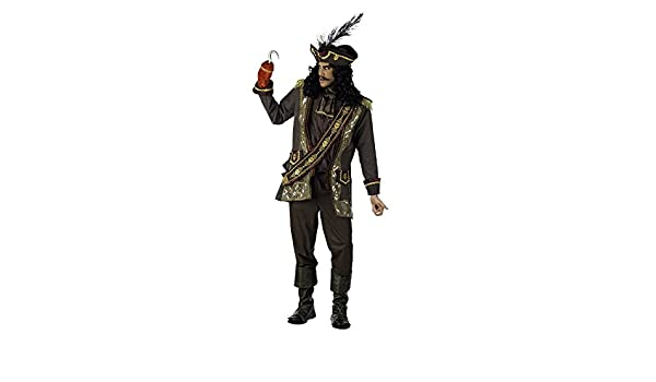 Elbenwald Capitán Garfio pirata Deluxe – Disfraz hombre: Amazon.es ...