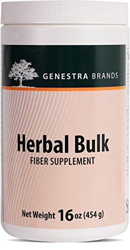 Genestra Brands - Herbal Bulk - Psyllium Hull, Oat Bran, Rice Bran, Apple Pectin and Guar Gum Fiber Formula - 16 oz (454 g)