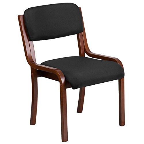Scranton & Co Fabric Side Chair in Black and Walnut by Scranton & Co